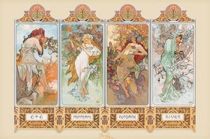 Posters Alphonse Mucha - Four Seasons - Poster po-265