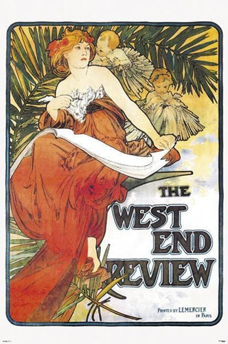 Posters Alphonse Mucha - West End Review - Poster 005801