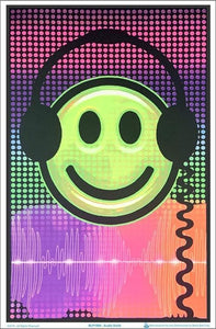 Posters Audio Smiley - Black Light Poster 100150