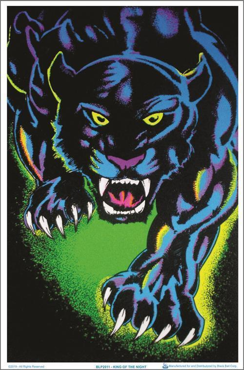 Posters Black Panther King of the Night - Black Light Poster 100143