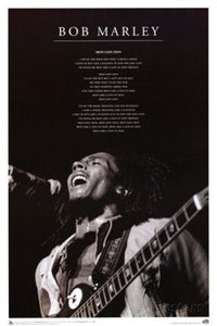 Posters Bob Marley - Iron Lion Zion - Black and White - Poster 100765
