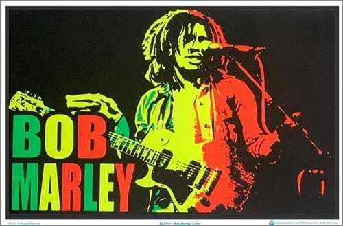Posters Bob Marley - Live - Black Light Poster 100162