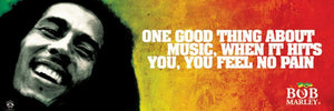 Posters Bob Marley - Music No Pain - Wide Poster 005558