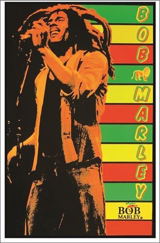 Posters Bob Marley - Rasta Stripes - Black Light Poster 001943