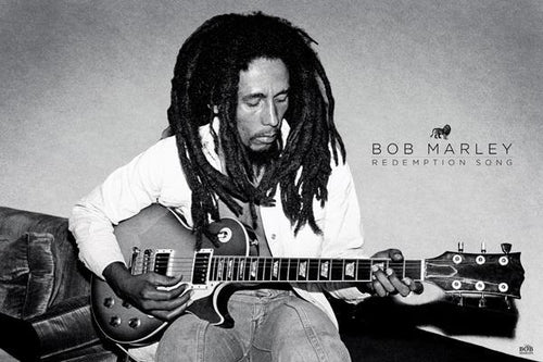 Posters Bob Marley - Redemption Song - Black and White Poster 009853