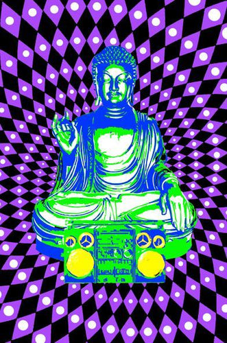 Posters Buddha Boom Box - Black Light Poster 008335
