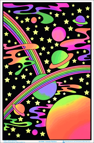 Posters Celestial Rainbow - Black Light Poster 100959