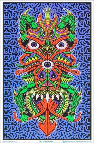 Posters Chris Dyer - Angel of Death - Black Light Poster 010585
