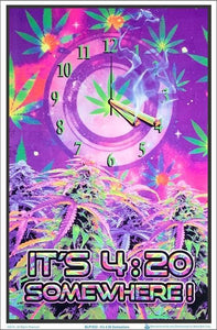 Posters Countdown Till 420 Somewhere - Black Light Poster 008196