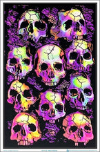 Load image into Gallery viewer, Posters Crypt Skulls - Black Light Poster 100169