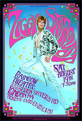Posters David Bowie - Ziggy Stardust - Concert Poster 100255