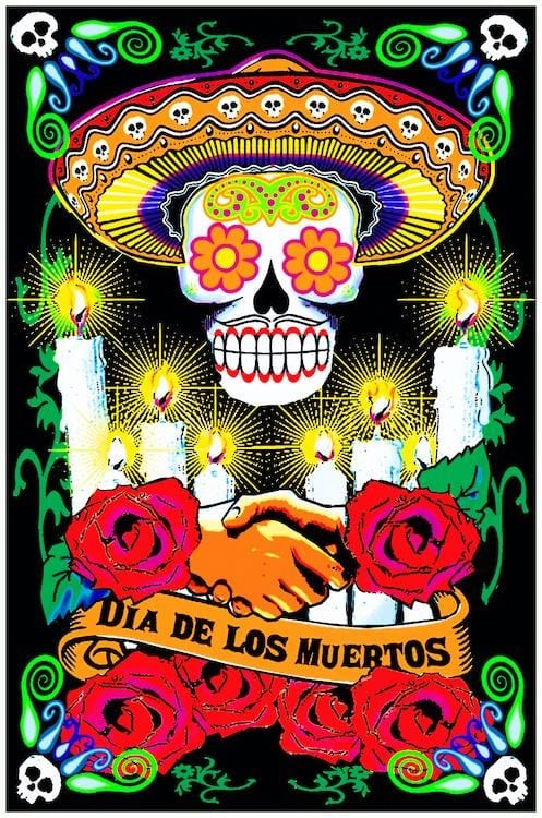 Posters Day of the Dead - Black Light Poster 100330