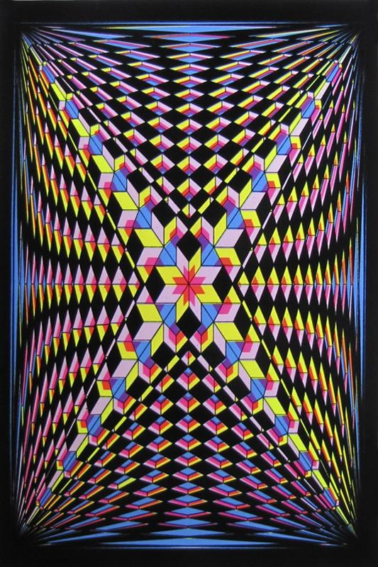Posters Double V Illusion - Black Light Poster 008333