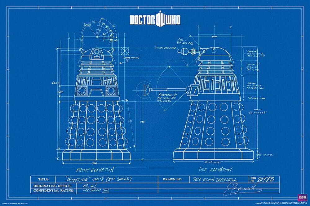 Posters Dr. Who - Dalek Blueprint - Poster 101062
