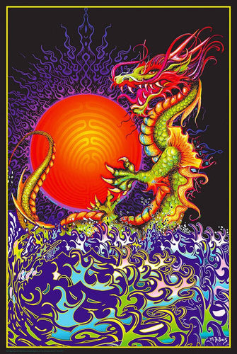Posters Dragon Rising - Black Light Poster 100741