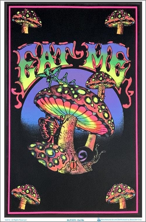 Posters Eat Me Mushrooms - Black Light Poster 100050