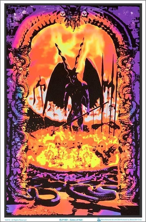 Posters Gates of Hell - Black Light Poster 100154