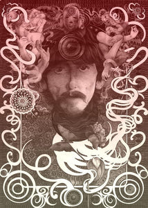 Posters George Harrison - Black and White - Concert Poster 100258