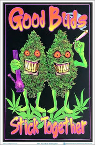 Posters Good Buds Stick Together - Black Light Poster 005191
