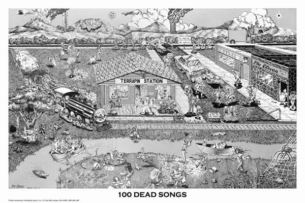 Posters Grateful Dead - 100 Dead Songs - Poster po-231