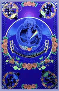 Posters Grateful Dead - Deadheads Over the Golden Gate Bridge - Black Light Poster 004224