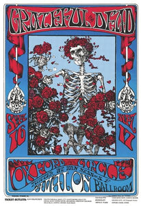 Posters Grateful Dead - Skeleton and Roses - Poster 100379