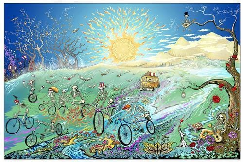 Posters Grateful Dead - Skeletons on Bicycles - Poster 100221