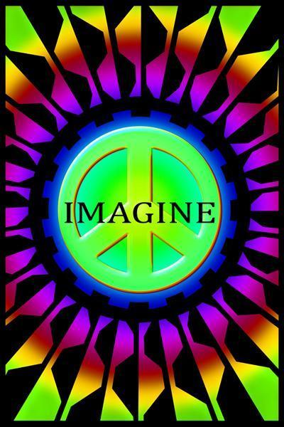 Posters Imagine Peace - Black Light Poster 005737