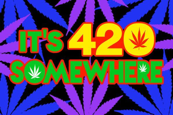 Posters It's 420 Somewhere - Black Light Poster 008334