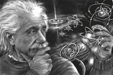 Posters James Danger Harvey - Albert Einstein - Quasar - Poster 008254