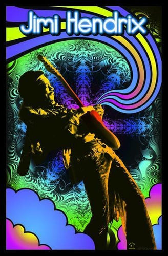 Posters Jimi Hendrix - Guitar Solo - Black Light Poster 000958