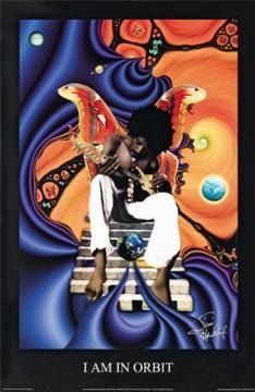 Posters Jimi Hendrix - I Am In Orbit - Poster 000003