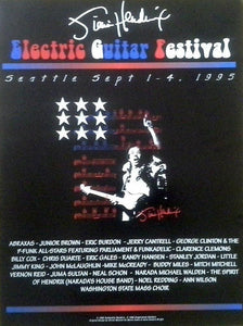 Posters Jimi Hendrix - Seattle Electric Guitar Festival - Concert Poster 100262