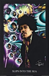 Posters Jimi Hendrix - Slips Into the Sea - Poster 000044