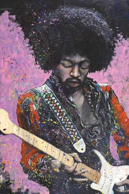 Posters Jimi Hendrix - Stephen Fishwick Painting - Poster 100216