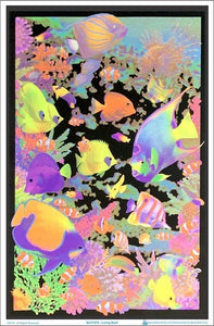 Posters Living Coral Reef - Black Light Poster 001687