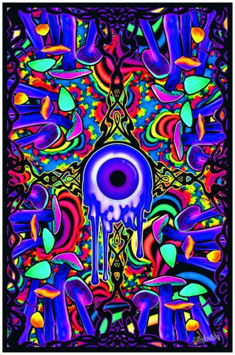 posters-magic-shroom-with-a-view-black-light-poster-100343-trippystore