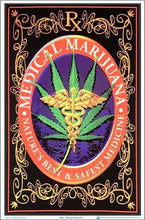 Load image into Gallery viewer, Posters Medical Marijuana - Black Light Poster 100079