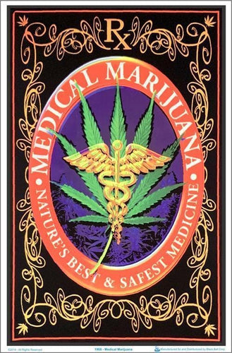 Posters Medical Marijuana - Black Light Poster 100079