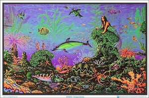 Posters Mermaid Octopus Garden - Black Light Poster 100069