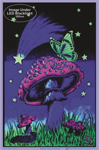 Load image into Gallery viewer, Posters Mushroom Butterfly - Black Light Poster 100227