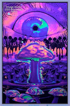 Load image into Gallery viewer, Posters Mushroom Ripple - Black Light Poster 008257