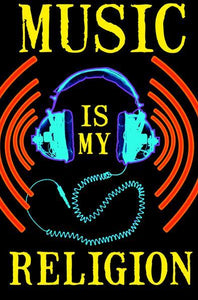Posters Music is My Religion - Black Light Poster 008336