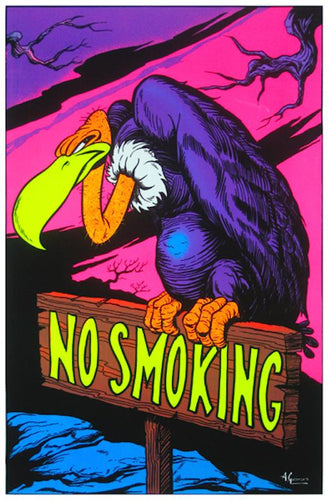 Posters No Smoking - Black Light Poster 000528