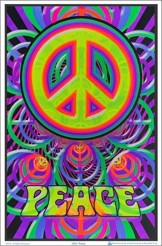 Posters Peace - Black Light Poster 000618