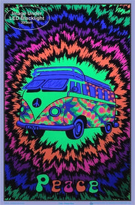 Posters Peace Bus - Black Light Poster 100088