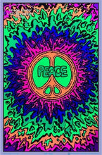 Load image into Gallery viewer, Posters Peace Psychedelic Rainbow Splatter - Black Light Poster 100071