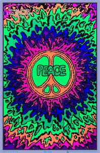 Posters Peace Psychedelic Rainbow Splatter - Black Light Poster 100071