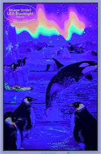 Load image into Gallery viewer, Posters Penguin Arctic Aurora - Black Light Poster 100147