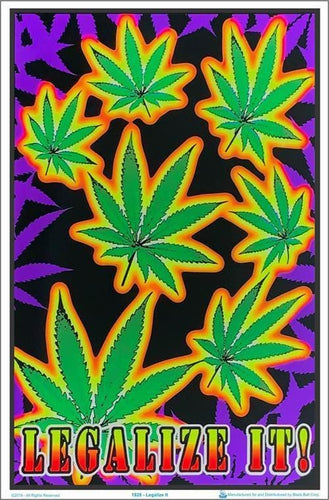 Posters Pot Leaf Legalize It - Black Light Poster 003938